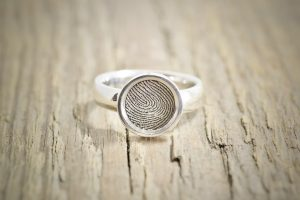 Custom Signet Fingerprint ring by Brent&Jess