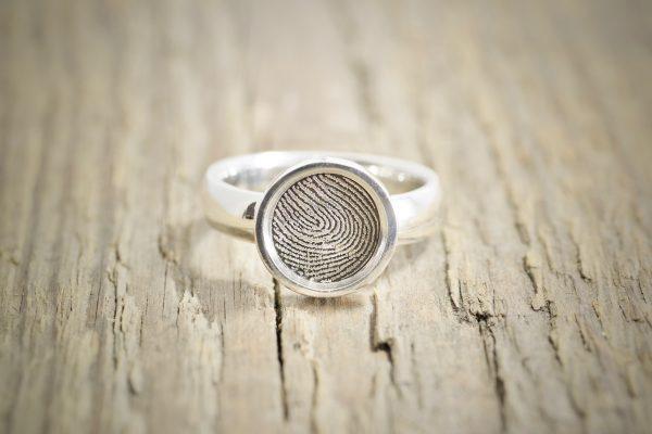 Custom Signet Fingerprint ring by Brent&Jess