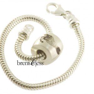 Custom baby foot bracelet by BRent&Jess