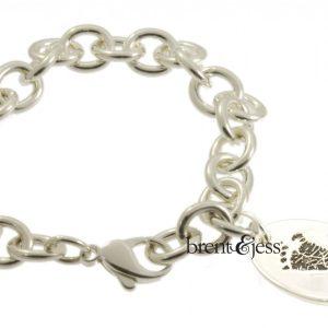 Custom Baby Foot Link bracelet by Brent&Jess
