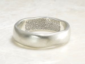 organic Brent&jess ring with interior fingerprint