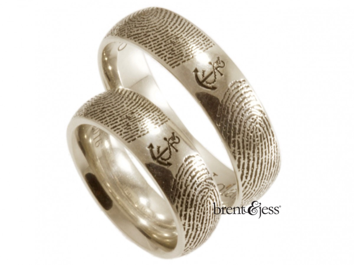 Platinum set of you are my anchor rings exclusively by Brent&Jess