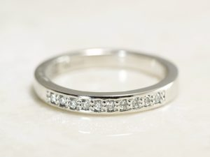 Handmade Platinum 10 diamond fingerprint Band exclusively made at Brent&Jess