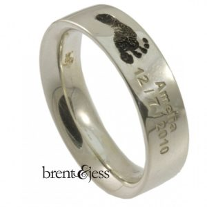 Babyfoot mens band ring by Brent&Jess