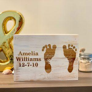 Custom Childs Footprint Wall Art