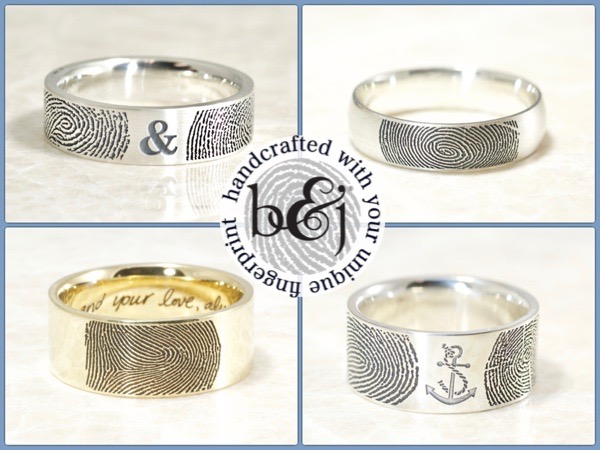 Brent&Jess Fingerprint rings