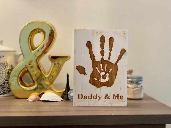 daddy and me custom wall art